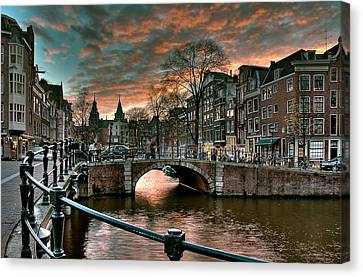 Prinsengracht And Reguliersgracht. Amsterdam Canvas Print
