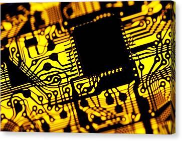 Printed Circuit Board, Artwork Canvas Print by Pasieka