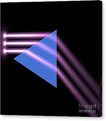 Canvas Print featuring the digital art Prism 1 by Russell Kightley