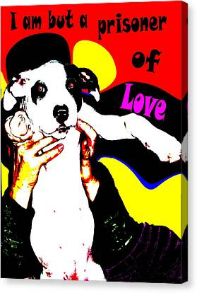Canvas Print featuring the painting Prisoner Of Love by Jann Paxton