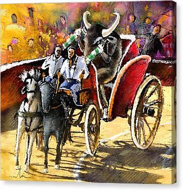 Proba Bull Cause Canvas Print by Miki De Goodaboom