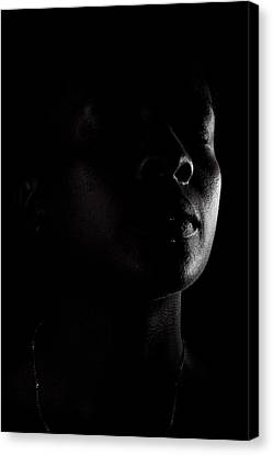 Profile In Black And White Canvas Print by Anya Brewley schultheiss