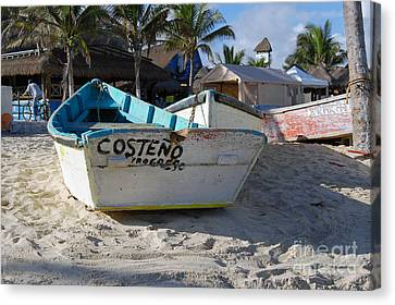 Progreso Mexico Fishing Boat Canvas Print