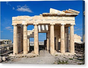 Propylaia - Greece Canvas Print by Constantinos Iliopoulos