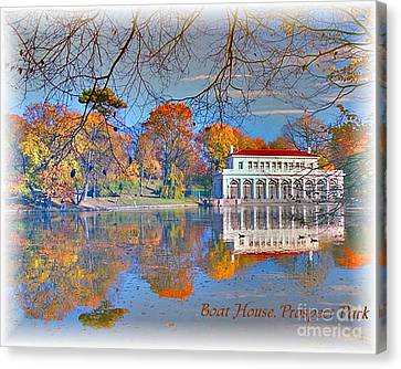 Prospect Park Boathouse Canvas Print by Mark Gilman