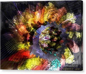 Canvas Print featuring the digital art Protein Fleur by Danica Radman