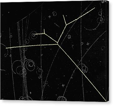 Proton Tracks Canvas Print by Lawrence Berkeley National Laboratory
