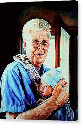 Proud Grandpa Canvas Print by Hanne Lore Koehler