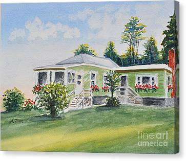 Prout's Neck Cottage Canvas Print by Andrea Timm