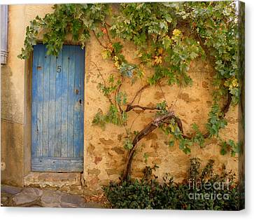 Canvas Print featuring the photograph Provence Door 5 by Lainie Wrightson