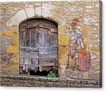Canvas Print featuring the photograph Provence Window And Wall Painting by Dave Mills