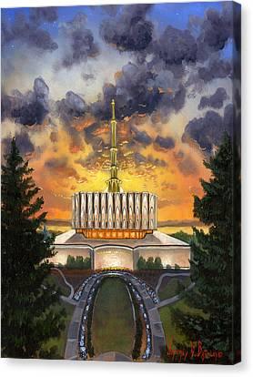 Provo Temple Evening Canvas Print