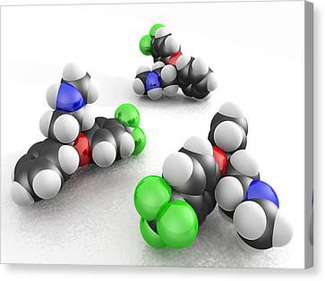 Prozac Molecules Canvas Print by Phantatomix