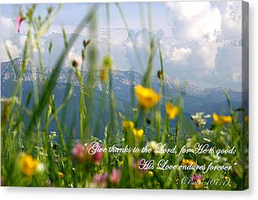 Psalm 107 1 Canvas Print