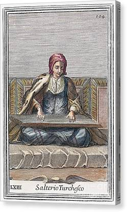 Psaltery, 1723 Canvas Print by Granger