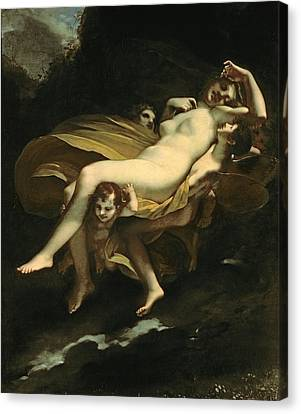 Psyche Transported To Heaven Canvas Print by Pierre-Paul Prud hon