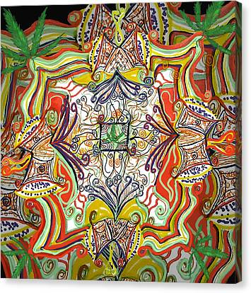 Psychedelic Art - The Jester's Cap Canvas Print by Barbara Giordano
