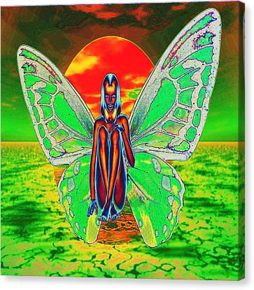 Psychedelic Butterfly Canvas Print by Matthew Lacey