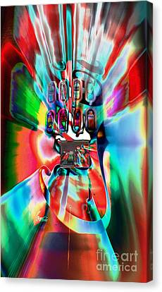 Psychedelic Pop Canvas Print by Lynda Dawson-Youngclaus