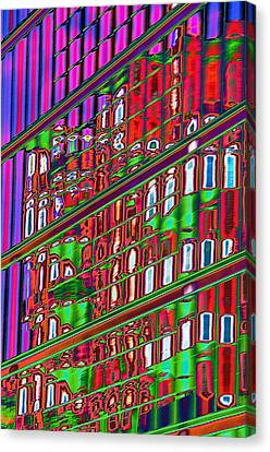 Psychedelic Reflection Of Barcelona 12 Canvas Print by Richard Henne