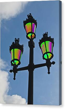 Psychedelic Streetlamps Canvas Print by Richard Henne