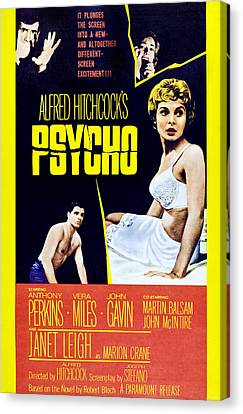 Psycho, Clockwise From Top Left Anthony Canvas Print by Everett
