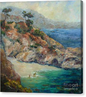 China Cove Canvas Print - Pt Lobos View by Carolyn Jarvis