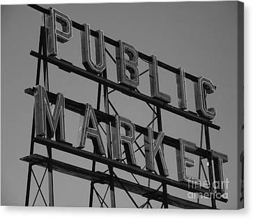 Public Market Canvas Print by Monika Pabon