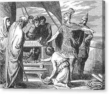 Publius Claudius Pulcher And The Sacred Canvas Print by Photo Researchers