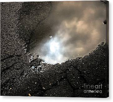 Puddle Art 7 Canvas Print by Dale   Ford