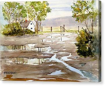 Puddles Canvas Print by Fred Ekman