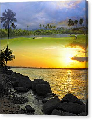 Puerto Rico Montage 3 Canvas Print by Stephen Anderson