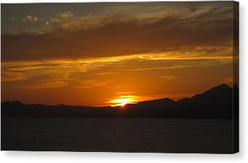 Canvas Print featuring the photograph Puerto Vallarta Sunset by Marilyn Wilson