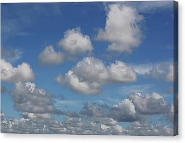 Puff Clouds Canvas Print by Nick  Shirghio