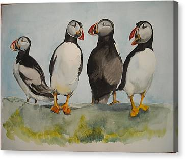 Puffins Canvas Print