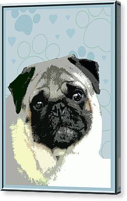Pug Canvas Print by One Rude Dawg Orcutt