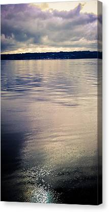 Whidbey Island Ferry Canvas Print - Puget Reflections by Sam Hymas