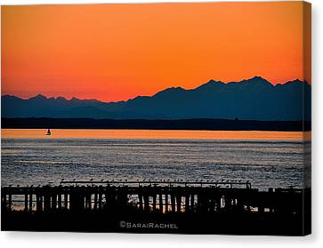 Puget Sound Sunset Canvas Print by Sarai Rachel