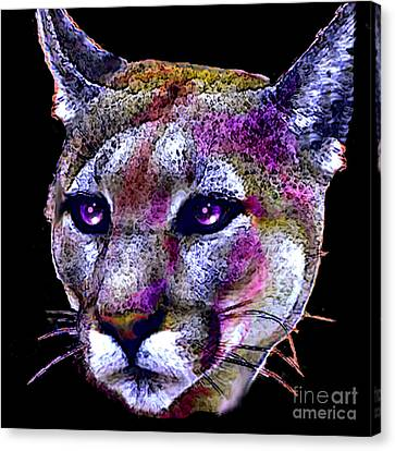 Puma Portrait Canvas Print by Elinor Mavor
