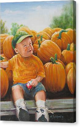 Pumkin Boy Canvas Print by Oz Freedgood