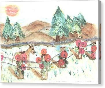 Pumpkin  Invaders Canvas Print by Thelma Harcum
