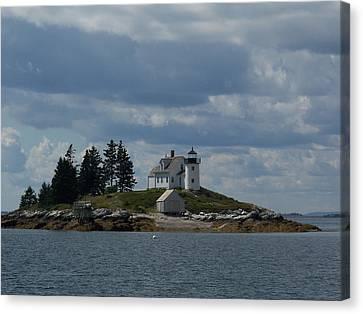 Pumpkin Island Lighthouse Canvas Print by Joseph Rennie