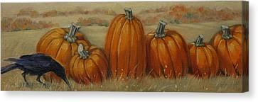 Pumpkin Row Canvas Print