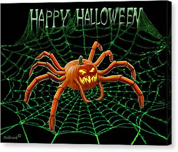 Pumpkin Spider Canvas Print by Glenn Holbrook