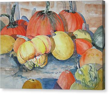 Pumpkins And Gourds Canvas Print