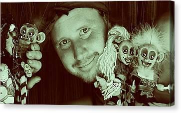 Puppets Break Out Canvas Print