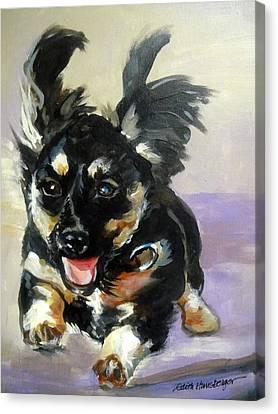 Puppy Joy Canvas Print