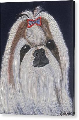 Puppy - Nib Painting Canvas Print by Rejeena Niaz
