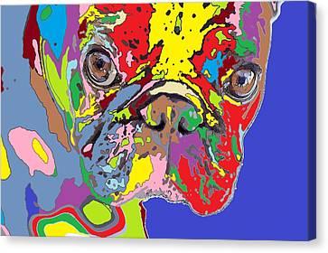 puppy Portrait 5 Canvas Print by Adrian Tovnodtov