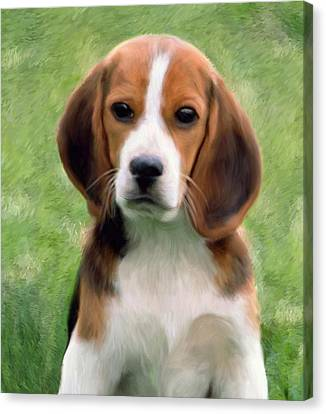 Puppy Portrait Canvas Print by Snake Jagger